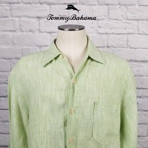Tommy Bahama Long Sleeve Linen Casual Shirt Sz M